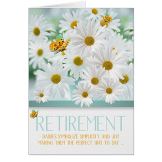 Retirement Congratulations White Daisy Garden Card