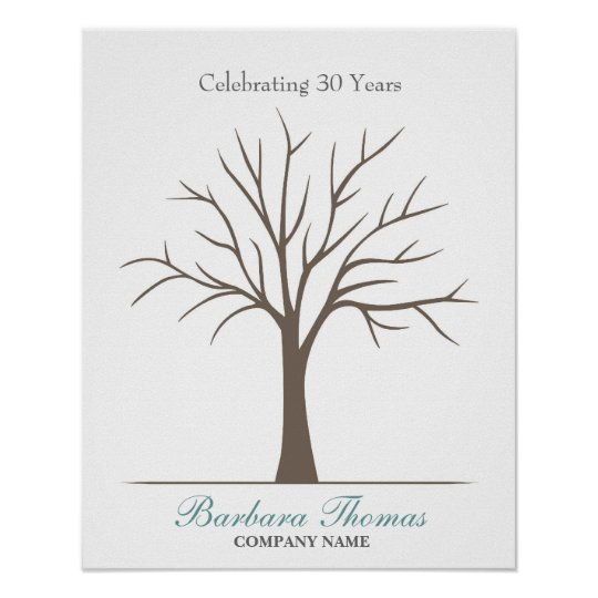 Retirement Fingerprint Tree Poster Zazzle Ca