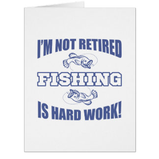 Retirement Fishing Humor Big Greeting Card