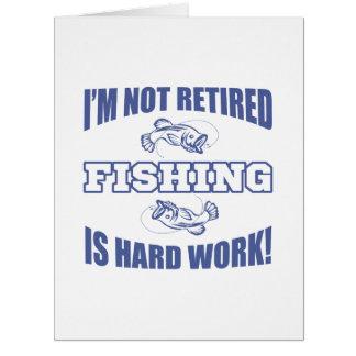Retirement Fishing Humor Card