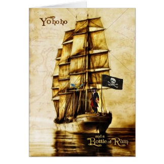Retirement - Funny Pirate Theme with Vintage Feel Card