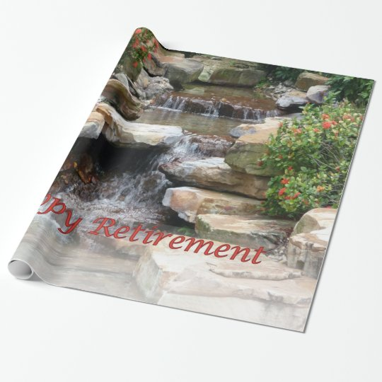 Retirement Garden Waterfall Cascade Wrap Paper