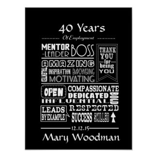Retirement gift print- Boss retirement poster