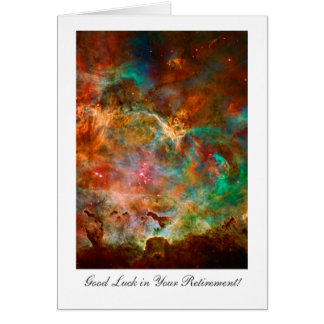 Retirement Good luck, Carina Nebula Star Journey Card