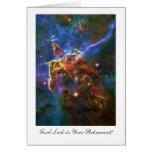 Retirement Good luck, Star filled Carina Nebula Greeting Cards