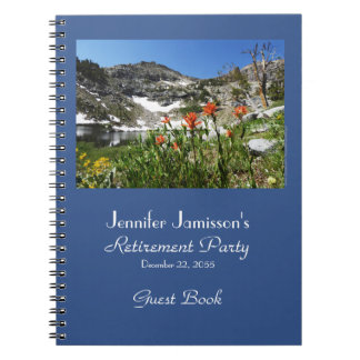 Retirement Guest Book, Mountains Lake Wildflowers Notebooks