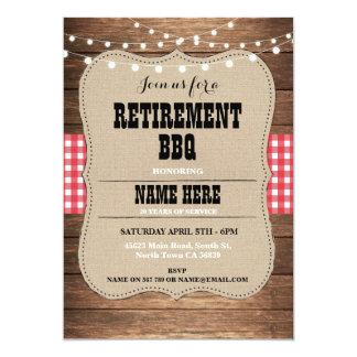 Retirement Invitation Retired Party BBQ Red Invite
