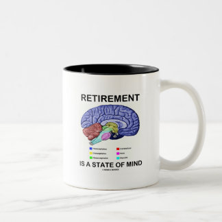 Retirement Is A State Of Mind (Anatomical Brain) Two-Tone Coffee Mug