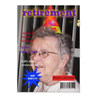 Retirement Magazine 5x7 Paper Invitation Card