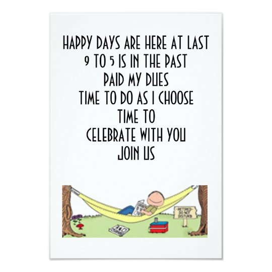 RETIREMENT MEANS CELEBRATING WITH YOU-INVITATION CARD