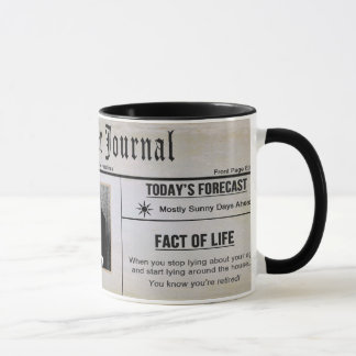 RETIREMENT MUG - PHOTO INSERT - NEWSPAPER