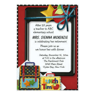 "Retirement Party 5"" X 7"" Invitation Card"