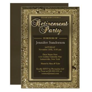Retirement Party | Elegant Golden Office Directory Card