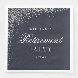 Retirement Party faux foil paper napkin