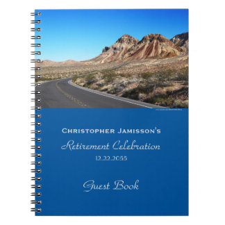 Retirement Party Guest Book, Around the Bend Notebook