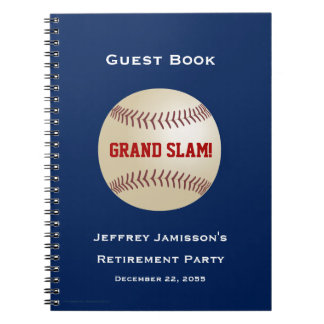 Retirement Party Guest Book, Baseball, Grand Slam Notebooks