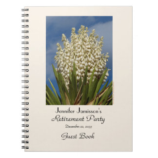 Retirement Party Guest Book, Blooming Yucca Notebooks