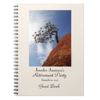 Retirement Party Guest Book, Bonsai Tree Spiral Notebook