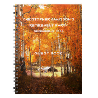 Retirement Party Guest Book, Cabin in the Aspens Spiral Notebooks