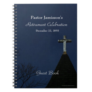 Retirement Party Guest Book, Cross Notebooks