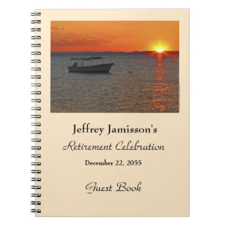 Retirement Party Guest Book, Fishing Boat Spiral Notebooks