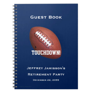 Retirement Party Guest Book, Football, Touchdown Notebooks
