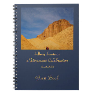 Retirement Party Guest Book, Hiking Golden Canyon Spiral Notebook