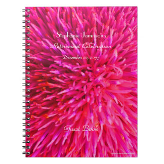 Retirement Party Guest Book, Hot Pink Abstract Notebooks