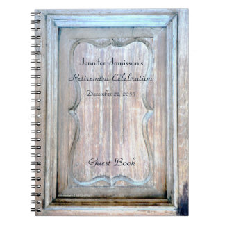 Retirement Party Guest Book, Weathered Wooden Door Notebook