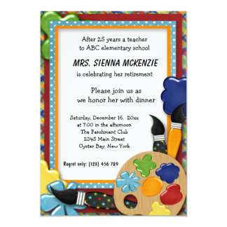 Retirement Party 5x7 Paper Invitation Card