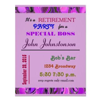 "retirement party 4.25"" x 5.5"" invitation card"