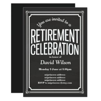 "Retirement Party invitation, chalkboard background 5"" X 7"" Invitation Card"