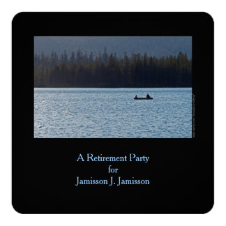 Retirement Party Invitation, Fisherman and Son