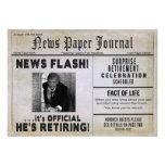 Retirement Party Invitation - PHOTO INSERT/ News