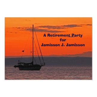Retirement Party Invitation Sailboat at Sunset