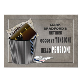Retirement Party Invitation -Tension-Pension
