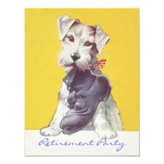 RETIREMENT PARTY INVITATION Work Boot now Dog Toy