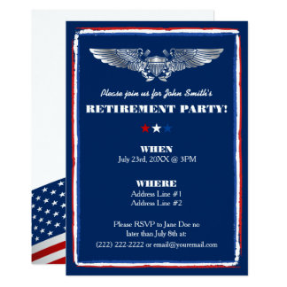 Retirement Party Invitations for Naval Air Force