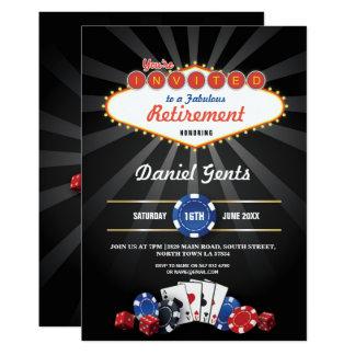 Retirement Party Las Vegas Casino Dice Invite
