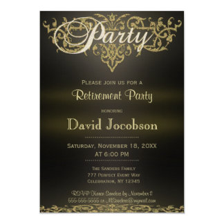 "Retirement Party | Modern Elegance 5"" X 7"" Invitation Card"