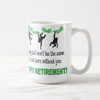 Retirement Party Monkeys Funny Mug