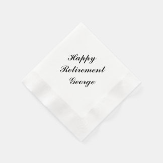 """Retirement Party"" Personalized Napkins Paper Napkins"