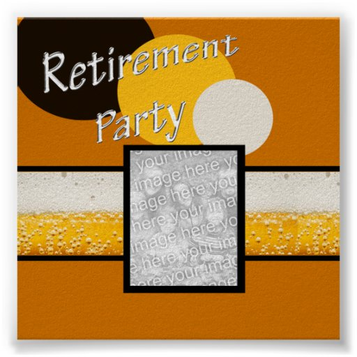 RETIREMENT PARTY PHOTO AUTOGRAPH POSTER