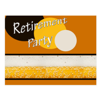 retirement party postcard