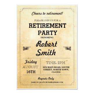 Retirement Party Rustic Retired Cheers BBQ Invite