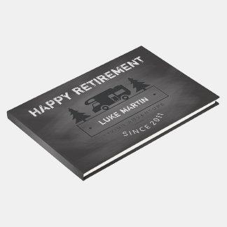 Retirement Party | RV Camper Teacher Chalkboard Guest Book