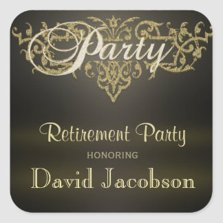 Retirement Party Square Sticker