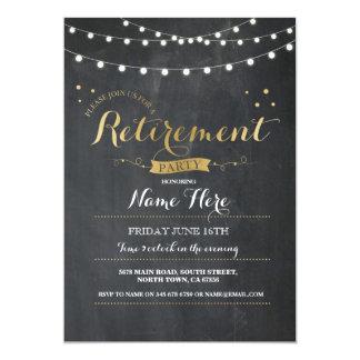 Retirement Party Vintage Retired Chalkboard Invite