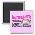 Retirement (Pink) Fridge Magnets