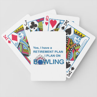 RETIREMENT PLAN - BOWLING BICYCLE PLAYING CARDS